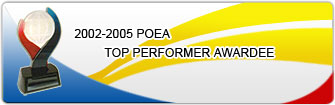 2002-2005 POEA Top PErformer Awardee